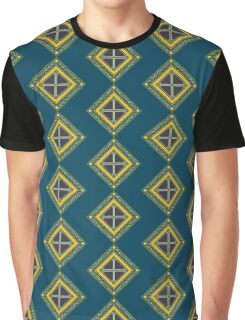 Baroque 2 Blue Graphic T-Shirt