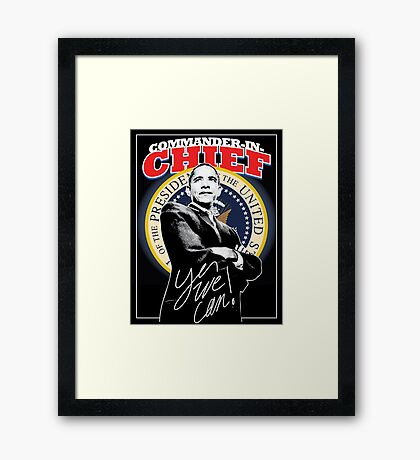 Commander In Chief Framed Print