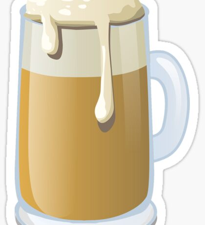 Beer Glass Graphic Sticker