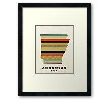 arkansas state map Framed Print