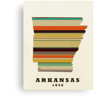 arkansas state map Canvas Print