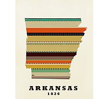 arkansas state map Photographic Print