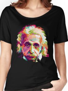 Albert Einstein Genius Space Cosmos Galaxy Universe Women's Relaxed Fit T-Shirt