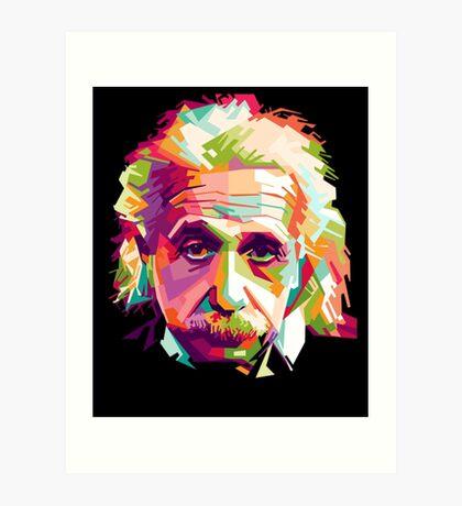 Albert Einstein Genius Space Cosmos Galaxy Universe Art Print
