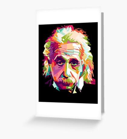 Albert Einstein Genius Space Cosmos Galaxy Universe Greeting Card
