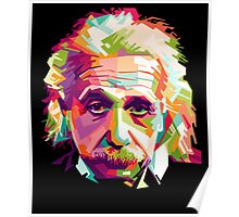 Albert Einstein Genius Space Cosmos Galaxy Universe Poster