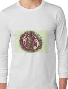Watercolor painting of koi fish in water Long Sleeve T-Shirt