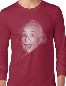 Albert Einstein Genius Tongue Funny Long Sleeve T-Shirt