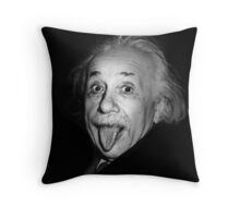 Albert Einstein Genius Tongue Funny Throw Pillow