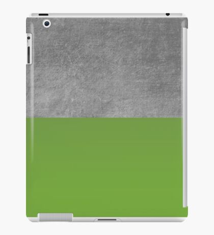 Concrete and Forest Green Color Block  iPad Case/Skin