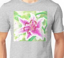 Asiatic Watercolour Lily Unisex T-Shirt