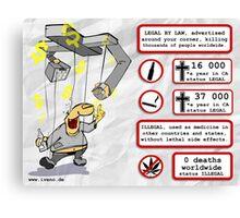 Cannabis status illegal  Canvas Print