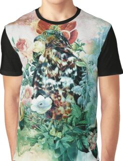 Bird in Flowers Graphic T-Shirt