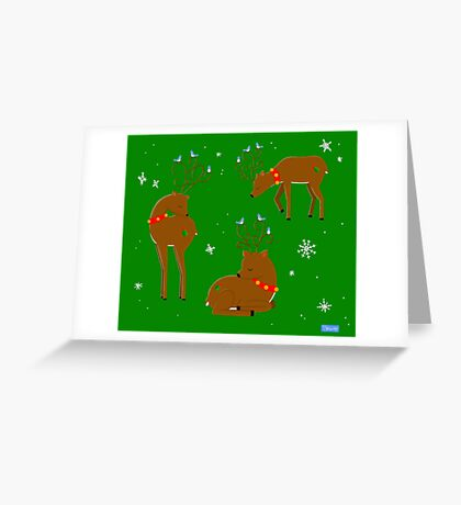 Santa's Guides Greeting Card