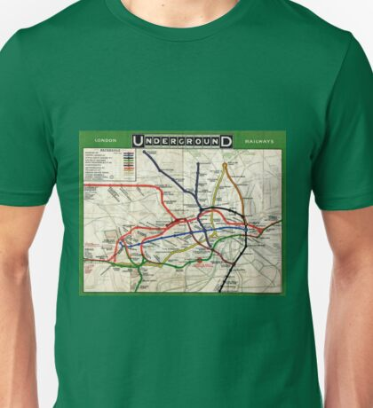 Map - London Underground Map - 1908 Unisex T-Shirt