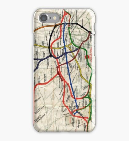Map - London Underground Map - 1908 iPhone Case/Skin