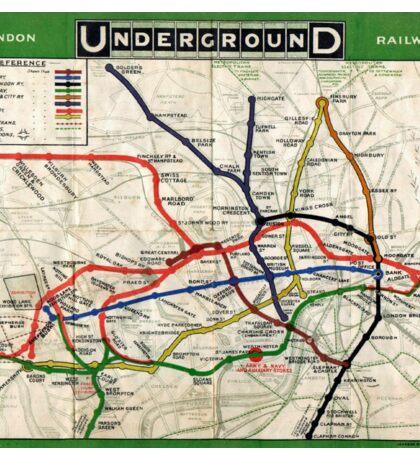 Map - London Underground Map - 1908 Sticker