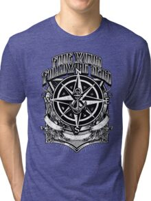 Fare Winds and Following Seas Nautical Compass & Anchor Tri-blend T-Shirt
