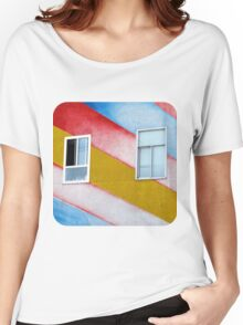 Stripes and Windows  Women's Relaxed Fit T-Shirt