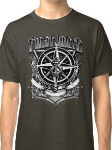 Nautical First Mate Vintage Compass and Anchor Classic T-Shirt