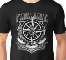 Nautical First Mate Vintage Compass and Anchor Unisex T-Shirt