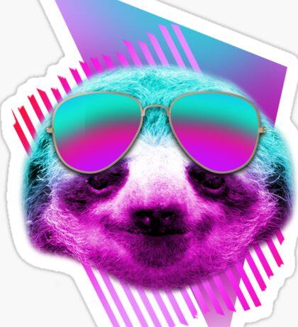 80's sloth Sticker