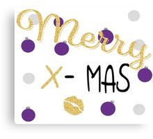 Merry X-Mas Canvas Print