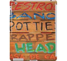 Bathroom Sign iPad Case/Skin