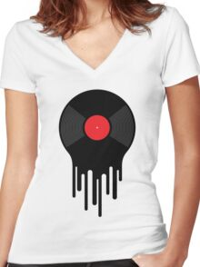 Liquid Sound Women's Fitted V-Neck T-Shirt
