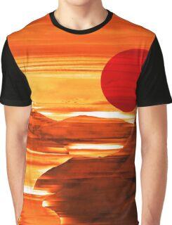 Sunset Harbor - Landscape Digital Painting Graphic T-Shirt