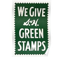 Green Stamps Poster