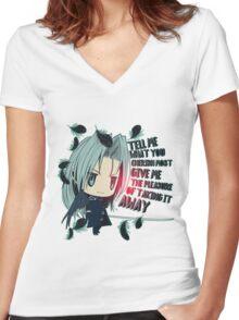 Cute-Sephhh Women's Fitted V-Neck T-Shirt