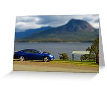 My 'model' car - tilt-shifted Greeting Card