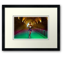 Running is better than drugs Framed Print
