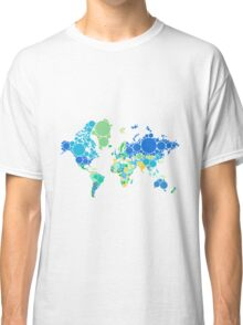 abstract world map with colorful dots Classic T-Shirt