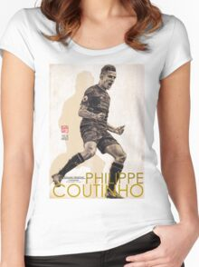 Philippe Coutinho - Liverpool FC Women's Fitted Scoop T-Shirt