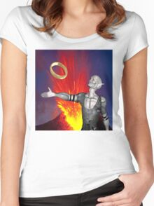 Ring of Destruction Women's Fitted Scoop T-Shirt