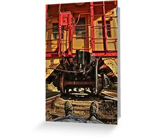 Caboose On The Loose Greeting Card