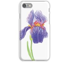 Iris water color painting iPhone Case/Skin