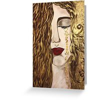 Golden Tears. Greeting Card