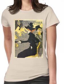 Toulouse Lautrec Divan  Japonais French music hall ad Womens Fitted T-Shirt