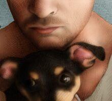 Dan Feuerriegel & Teddy the Puppy Sticker
