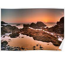 Golden Sunrise Seascape Poster