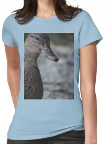 Duck up close Womens Fitted T-Shirt