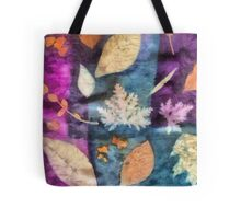 Colorful fallen leaves abstract Tote Bag