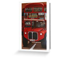 ROUTE MASTER BUS #73 Greeting Card