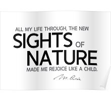 new sights of nature - marie curie Poster
