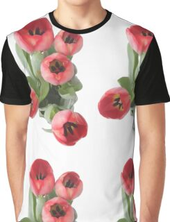 Red Tulips (no vase) Graphic T-Shirt