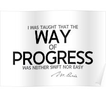 way of progress - marie curie Poster