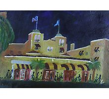 Colony Hotel at Night. Delray Beach Photographic Print